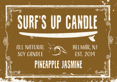 Surf's Up Pineapple Jasmine Mason Jar Candle