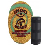 Original Indo Board Rasta -- Deck plus Roller