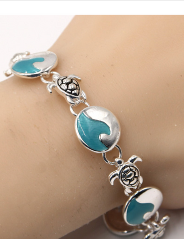 Sea Turtle with Wave Magnetic Bracelet