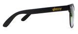 Glassy Shredder Matte Black/Red Mirror Sunglasses