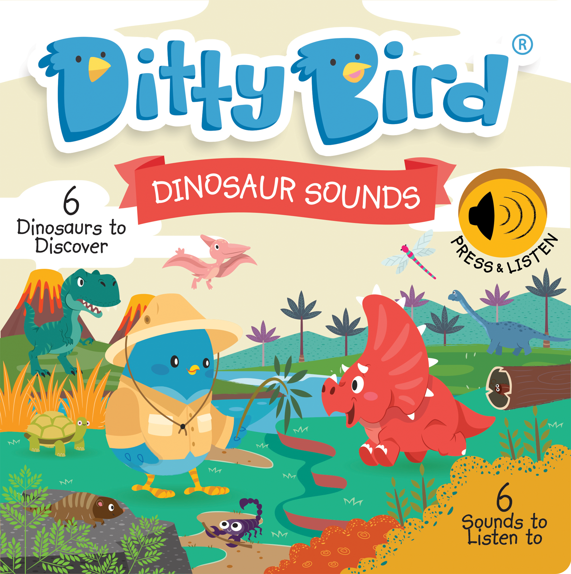 NEW! Ditty Bird - Dinosaur Sounds