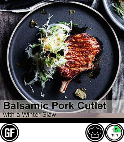 1/2/3/4 Person Meal Kit - Black Label - Balsamic BBQ Pork Cutlet with Sweet Mash & Winter Slaw