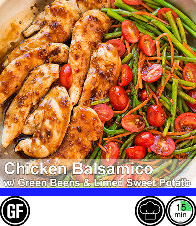 2/4 Person Meal Kit - Blue Label - Chicken Balsamico with Green Beans & Limed Sweet Potato Salad (GF)