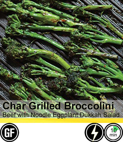 2/4 Person Meal Kit - Gold Label - Char grilled Broccolini and Beef with Eggplant & Dukkah (GF)