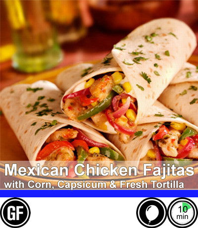 2/4 Person Meal Kit - Blue Label - Mexican Grilled Chicken Fajitas - (5 Fajitas / Person) (GF)