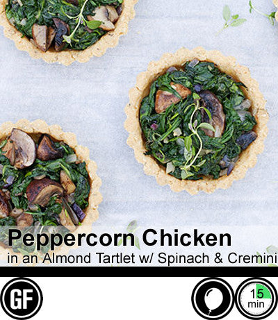 1/2/3/4 Person Meal Kit - Black Label - Peppercorn Chicken with Mushroom and Spinach in an Almond Tartlet (GF)