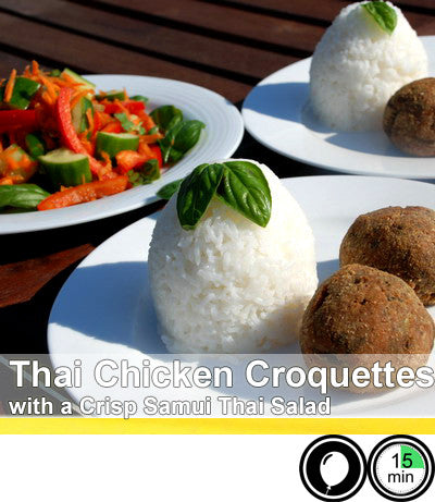 2/4 Person Meal Kit - Gold Label - Thai Chicken Croquettes with a Crisp Thai Salad - Gourmet Meal Kit