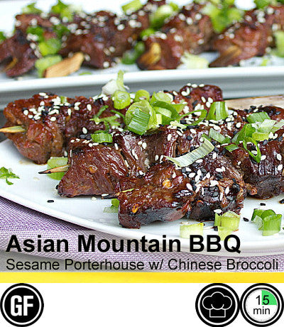 2/4 Person Meal Kit - Gold Label - Asian Mountain BBQ - Sesame Porterhouse with Chinese Broccoli (GF)