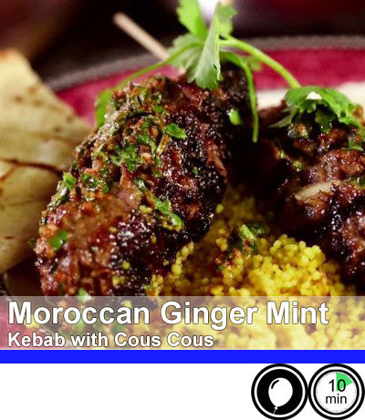 2/4 Person Meal Kit - Blue Label - Moroccan Ginger Mint Beef Kebab with a Cucumber Raita and Cous Cous