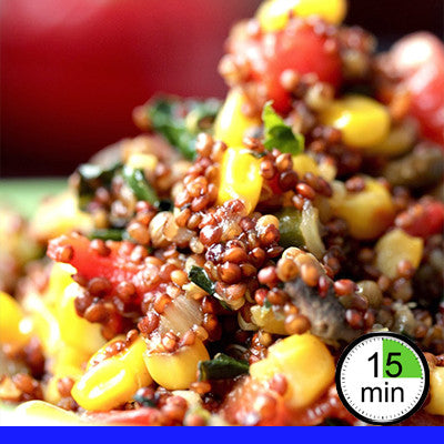2/4 Person Meal Kit - Blue Label - Red Quinoa Superfood Pilaf (GF) (V)