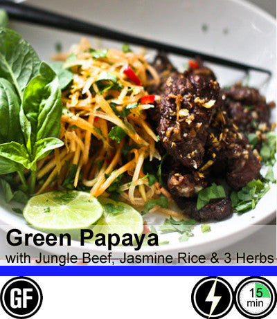 2/4 Person Meal Kit - Blue Label - Green Papaya with Naked Lemongrass Jungle Steak (GF)