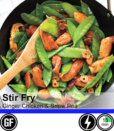 2/4 Person Meal Kit - Blue Label - Stir-Fry Ginger Chicken with Snowpeas (GF)