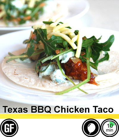 2/4 Person Meal Kit - Gold Label - Texas BBQ Chicken Taco (5 Gourmet Tacos / Person) (GF)
