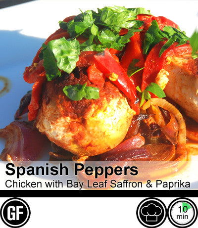 1/2/3/4 Person Meal Kit - Black Label - Spanish Peppers, Pan Roasted Chicken with Bay Leaf, Saffron and Smoked Paprika (GF)