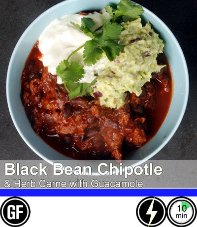 2/4 Person Meal Kit - Blue Label - Black Bean Chipotle and Herb Beef Carne with Guacamole (GF)