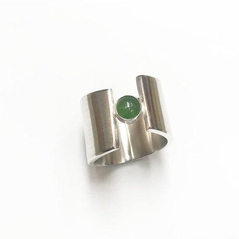 green fingers gap ring - pounamu