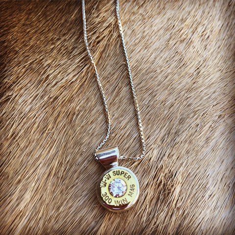 Bush Bling Single Bullet Pendant. (medium sized Bullet)