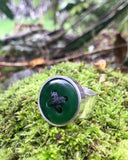 button ring in pounamu