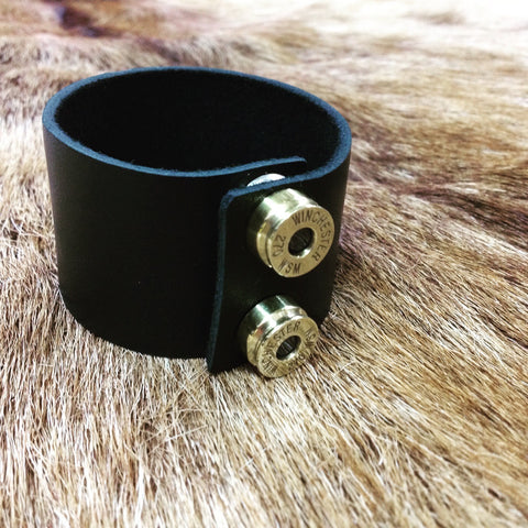 bush bling leather cuff