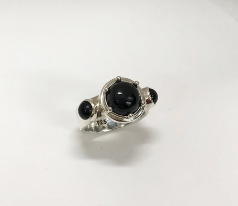 protection ring - black onyx