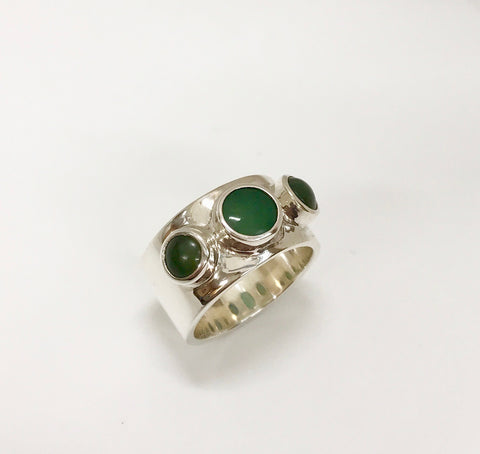 longevity ring  - light & dark green