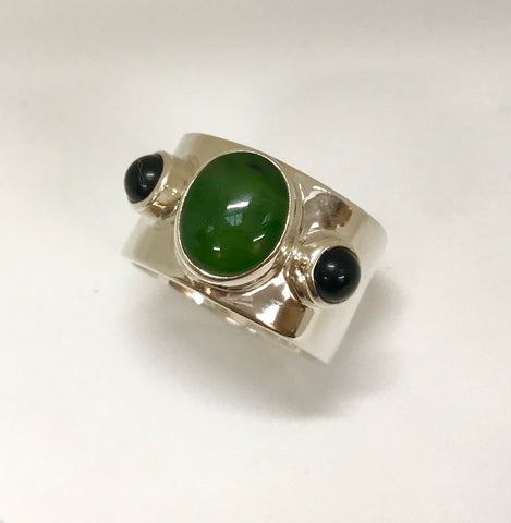 longevity ring - black & green