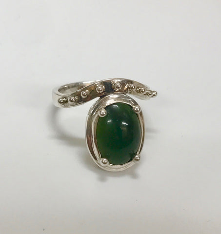 jewel of the earth ring -mid green