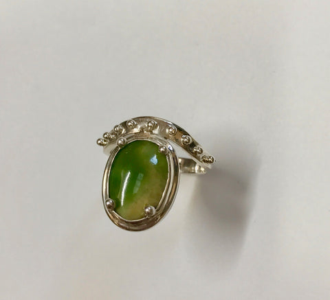 jewel of the earth ring - yellow/green