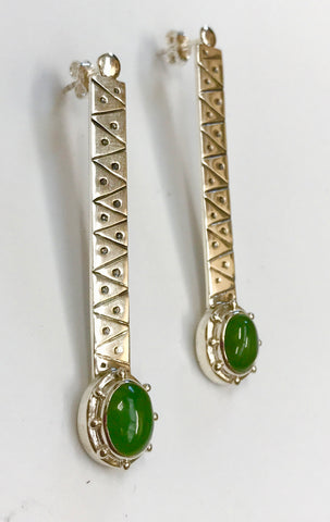 pounamu new beginnings earrings -light green