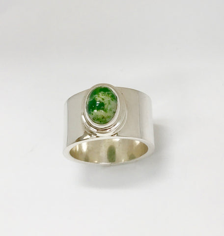 earth ring - mid green/white