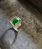 pounamu signet ring (med green)