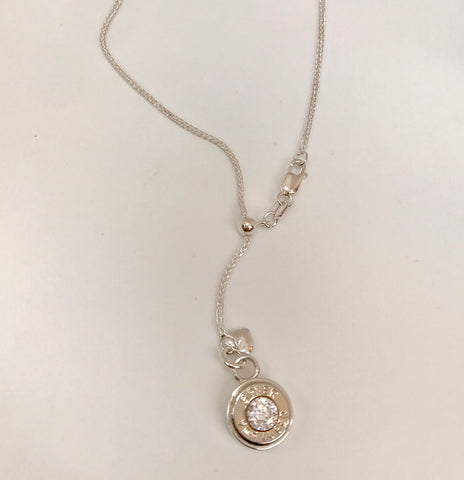 bush bling lariat (rose bullet charm)