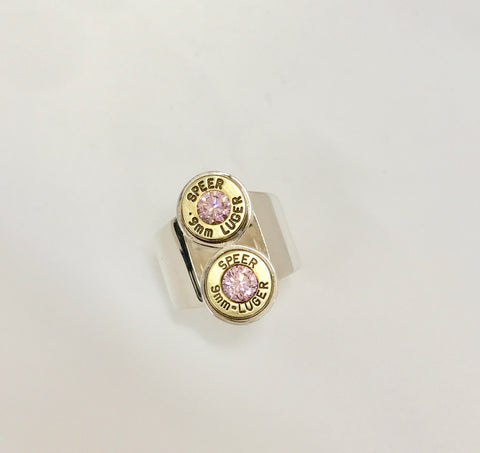 elevation ring - pink zirconia