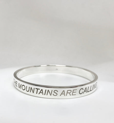 the mountains are calling bangle