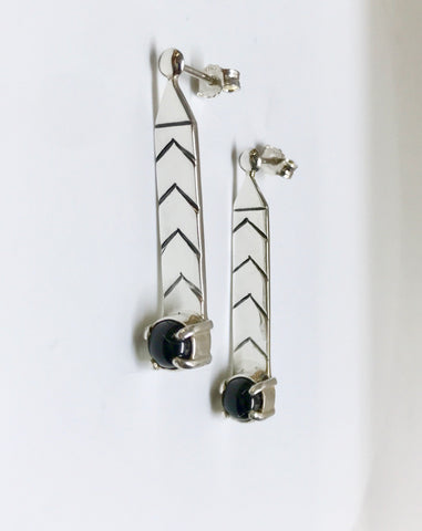strength earrings - black onyx