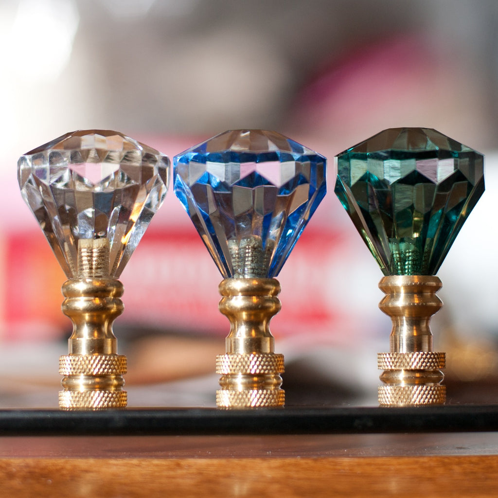 Acrylic crystal diamond lamp shade finial blessing light acrylic crystal diamond lamp shade finial mozeypictures Gallery