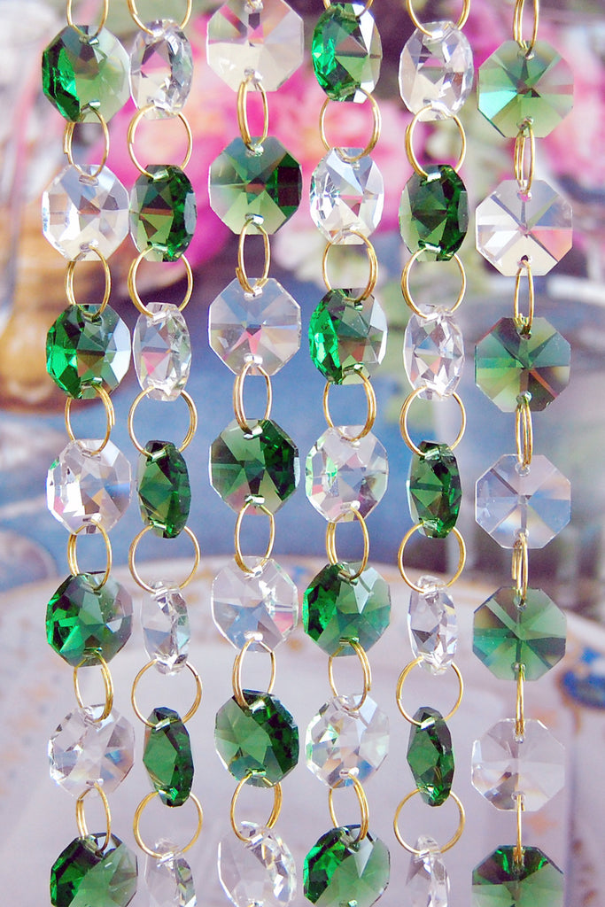 Glass crystal chandelier octagon beads chains blessing light glass crystal chandelier octagon beads chains aloadofball Choice Image
