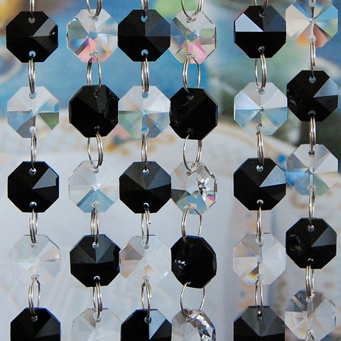 Glass Crystal Chandelier Octagon Beads Chains