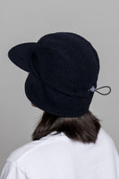 paa - Ear Flap Cap Two - Navy Melton