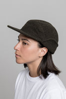 paa - Ear Flap Cap Two - Deep Olive Melton