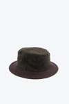 paa - Bucket Hat One - Deep Olive Melton / Brown Chamois