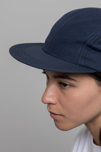 paa - Four Panel Cap - Navy Fleece Tussah