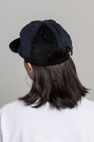 paa - Wide Wale Ball Cap - Black / Navy Corduroy Pinwheel