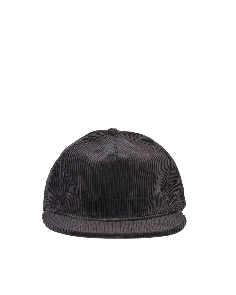 Wide Wale Pleat Cap - Black