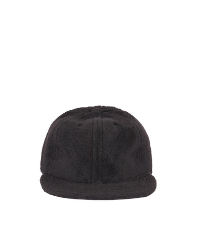 Polar Fleece Fitted Ball Cap - Black