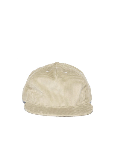 Wide Wale Pleat Cap - Stone