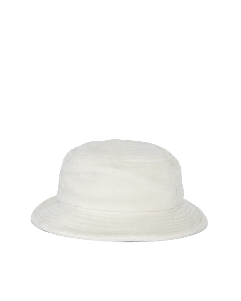 Polar Fleece Bucket Hat - White
