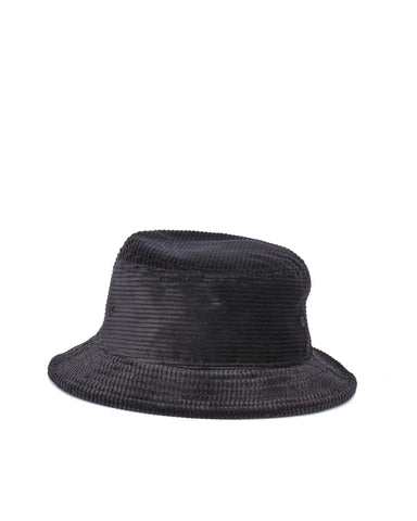 Wide Wale Bucket Hat - Black