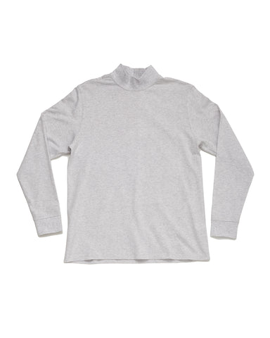 Mock Neck - Heather White