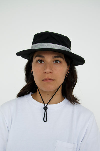 paa - Bucket Hat Three - Black Waxed Cotton